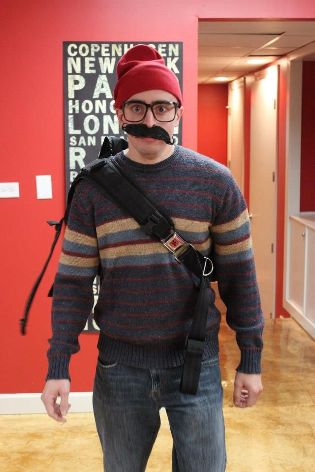 Halloween Party 2012: ITA Advisor, Justin, as a Hipster