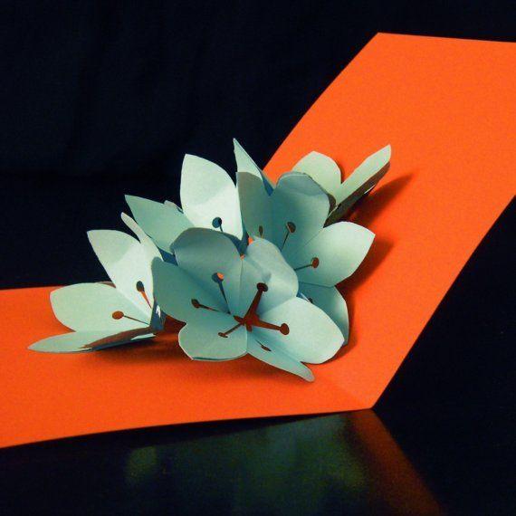 Aqua sakura flower explosion pop up card by intertwingle on etsy aqua sakura flower explosion pop up card by intertwingle on etsy 700 mightylinksfo