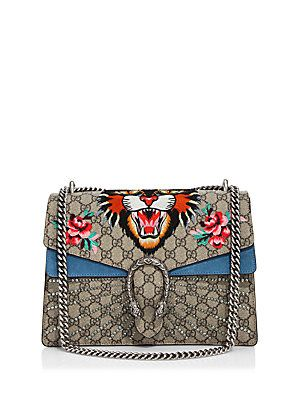 af716a008949 Gucci Medium Dionysus Embroidered Angry Cat GG Supreme Shoulder Bag. The  GAUDIER the better!!!