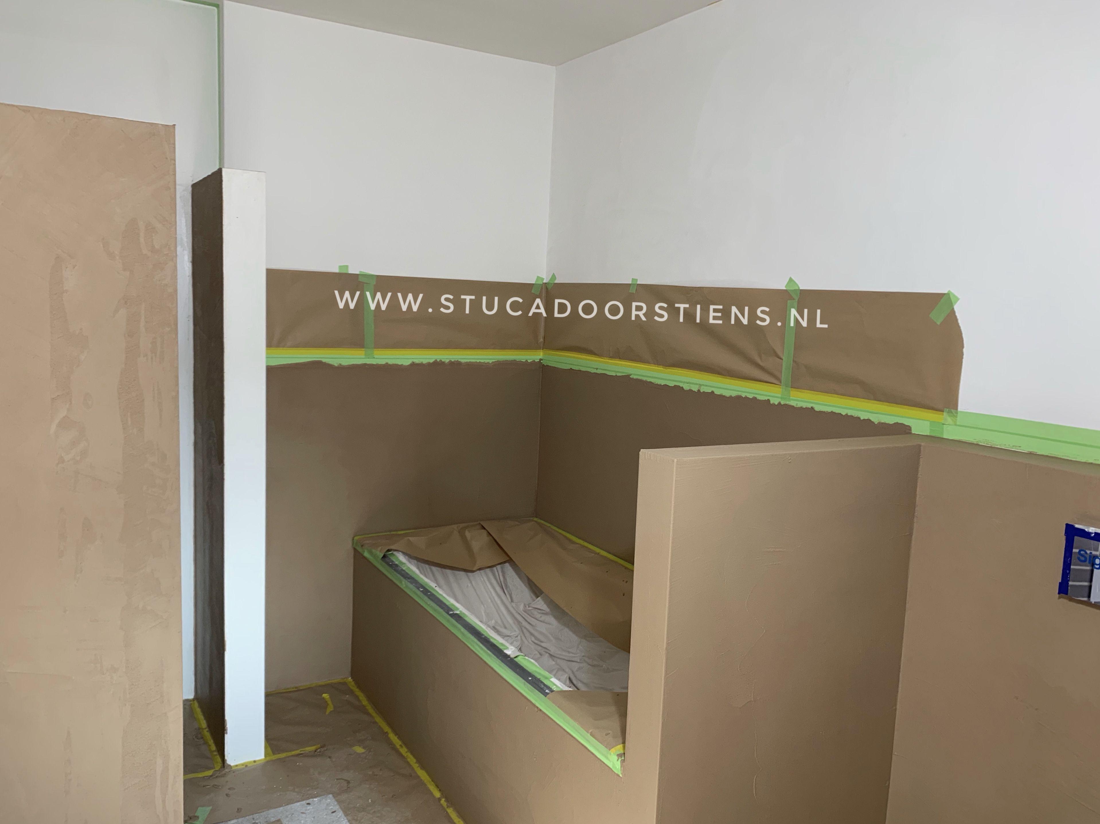 Stucwerk Badkamer Waterdicht : Aanbrengen van betoncire in de badkamer waterdicht stucwerk in meer