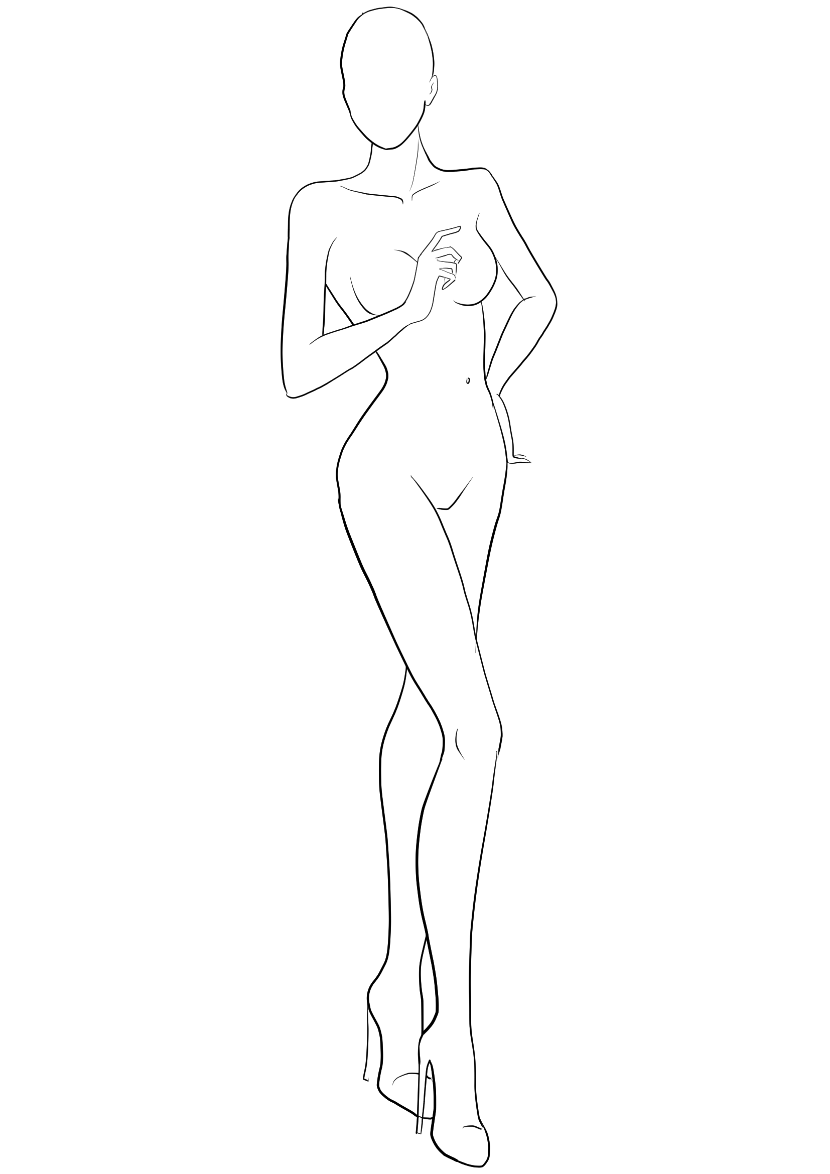 Free figure template for fashion sketches. Download free fashion templates to…