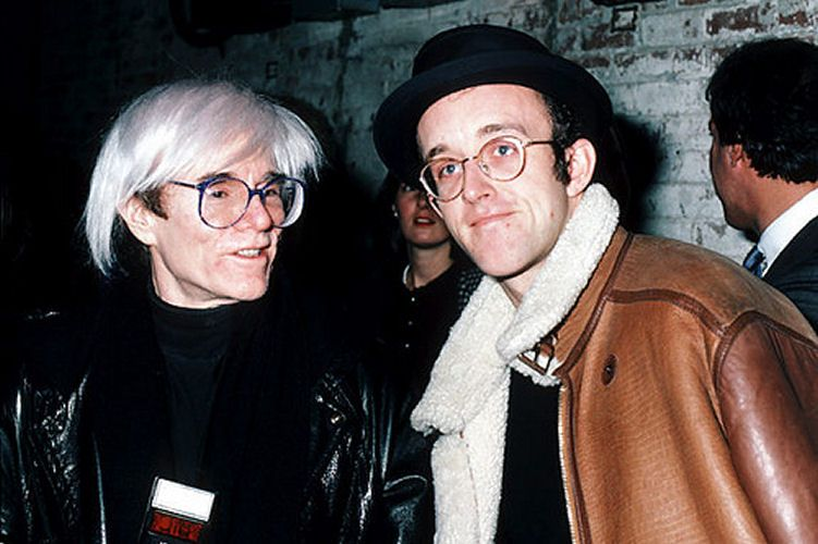 Image result for Andy Warhol y Keith Haring