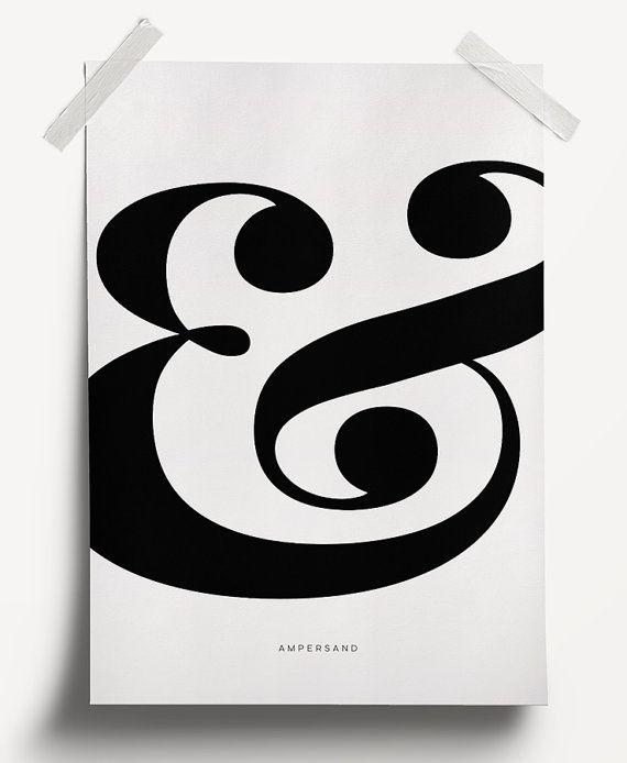 Ampersand Wall Art ampersand art print - printable file. typography print. black