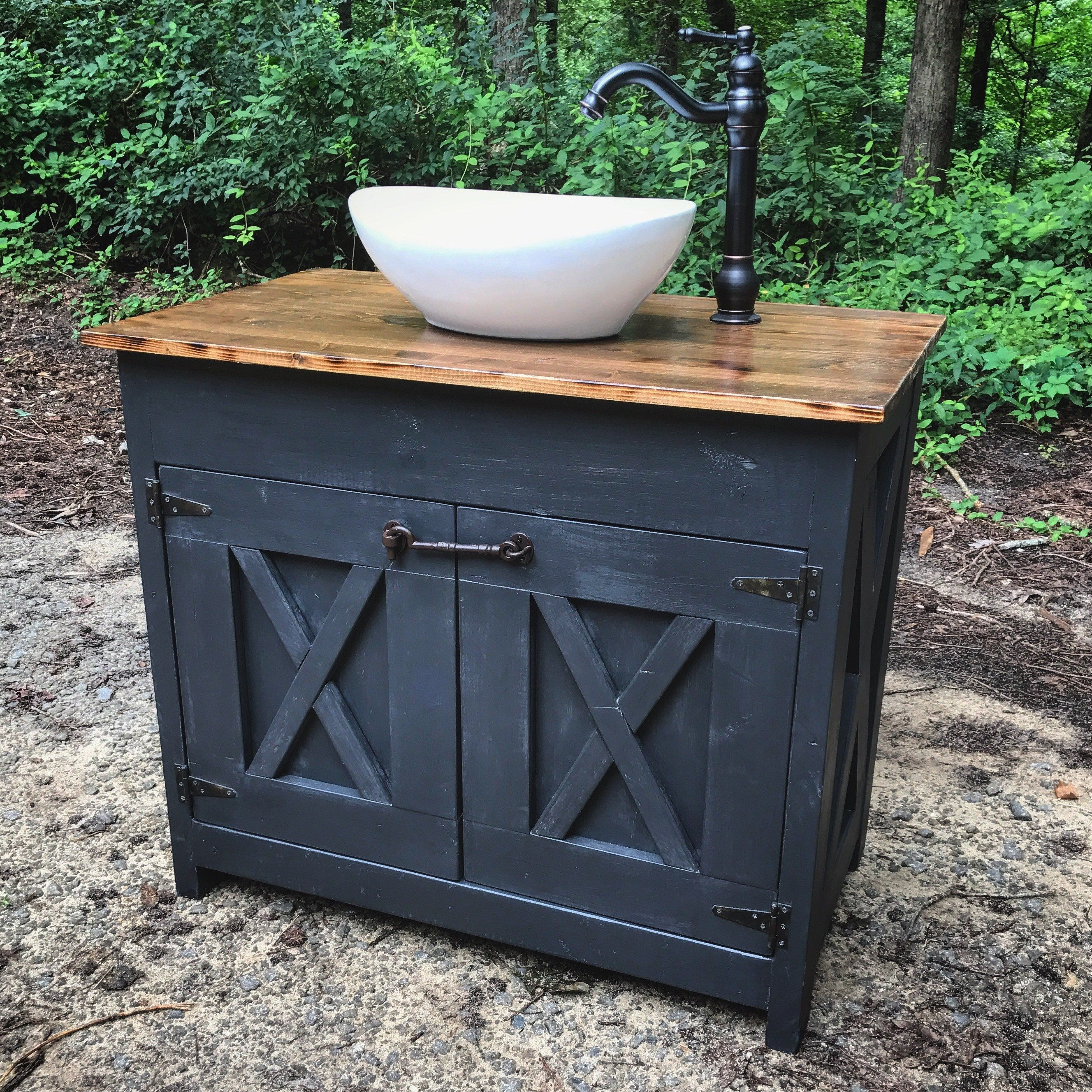 3 Foot Wide Vanity Single Sink 36 Wide 22 Deep 30 Inches Tall All Other Different Wi Farmhouse Bathroom Vanity Vessel Sink Bathroom Vanity Diy Bathroom Vanity