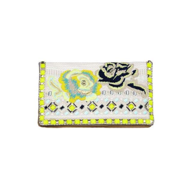 This gorgeous embroidered clutch by Matthew Williamson just brightened up our day! #NewArrivals #MustHave