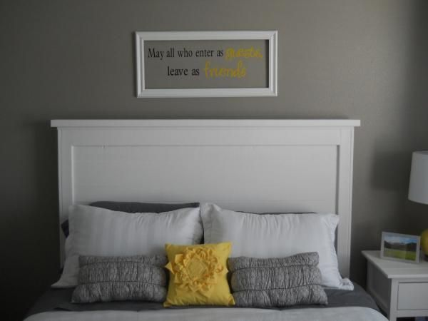 Beautiful white wood painted headboard simple design easy for Easy to make headboards