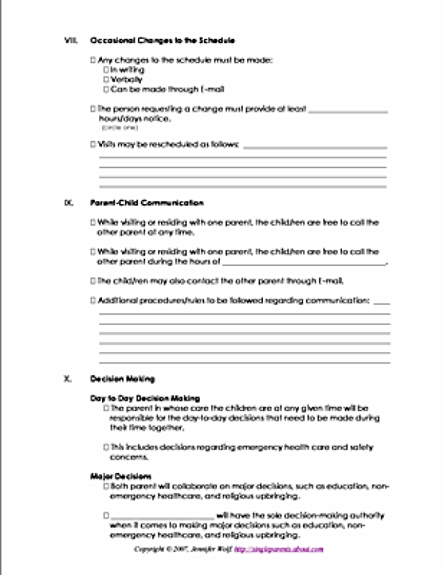 joint custody parenting plan template - how to be more successful at coparenting parenting plan