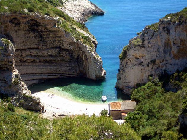 Stiniva bay on island Vis - paradise on earth!