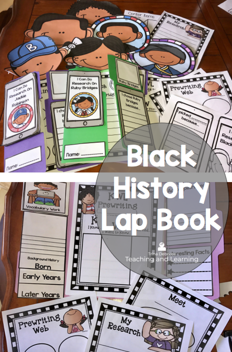 I Can Do Research On Black History Lap Book Bundle | Third Grade ...