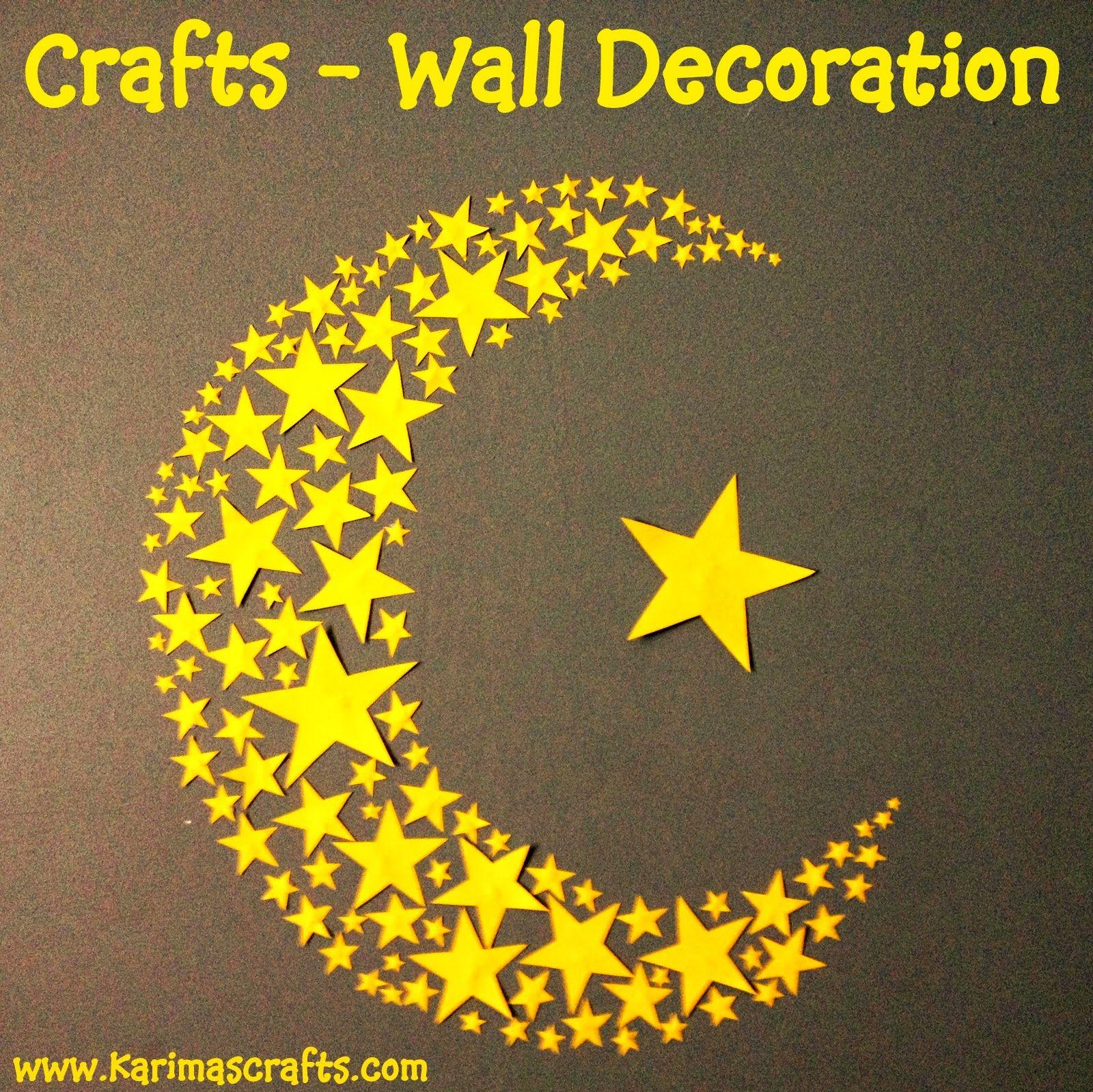 crescent moon and stars wall art ramadan crafts | Ramadan/Eid ...