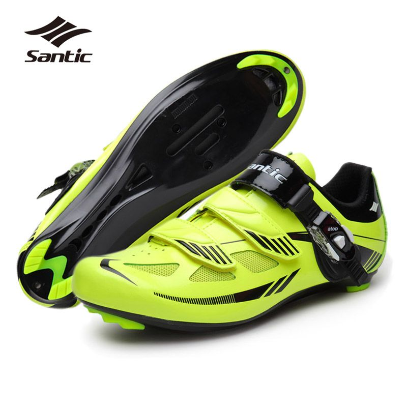 Santic Mens Road Cycling Shoes Pu Mesh Breathable Road Bike Shoes Auto Lock Bicycle Sport Shoes Zapatillas C Road Bike Shoes Road Cycling Shoes Cycling Shoes
