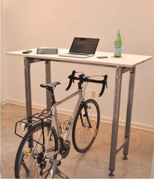 Ride Your Bike While You Work With The Kickstand Desk Desk