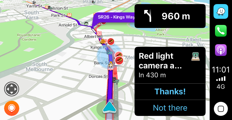 Waze and its community of user reports of hazards