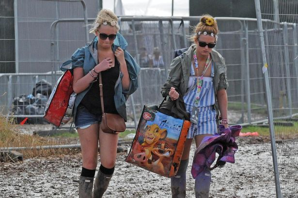 Boot-iful weather: Creamfields revellers leave early