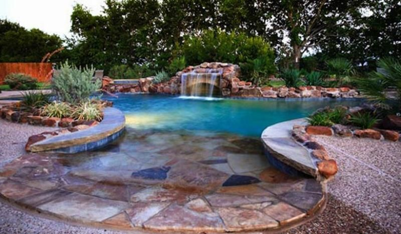 Pool Ideas master pools guild residential pools and spas freeform gallery minus the fireplace Custom Swimming Pools And Spa Outdoor Pool Ideas Pictures
