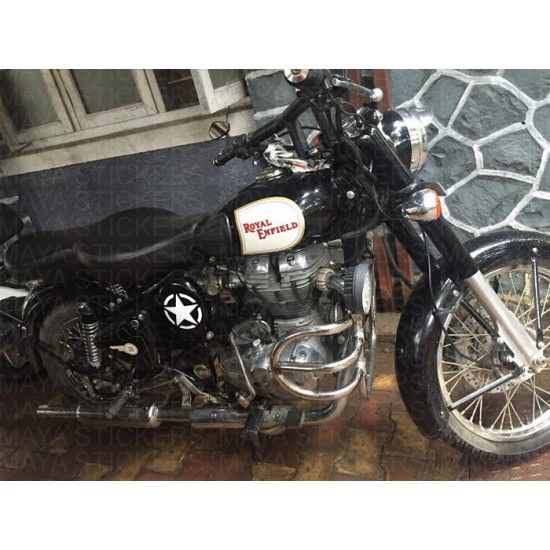 Star Sticker For Royal Enfiled Bullets Royal Enfield Custom - Classic motorcycle custom stickers