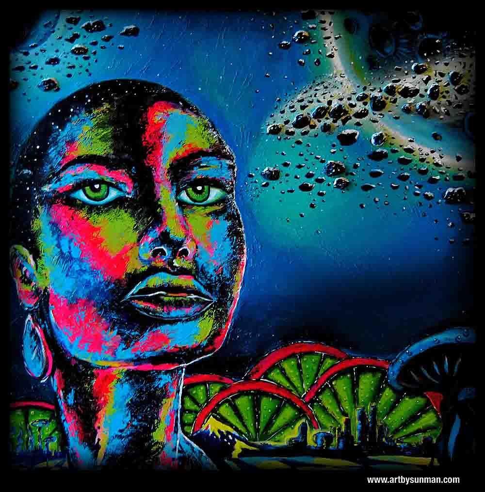 """Maya-2012  Medium: Mix Medium  Size: 48""""x48""""  www.artbysunman.com"""