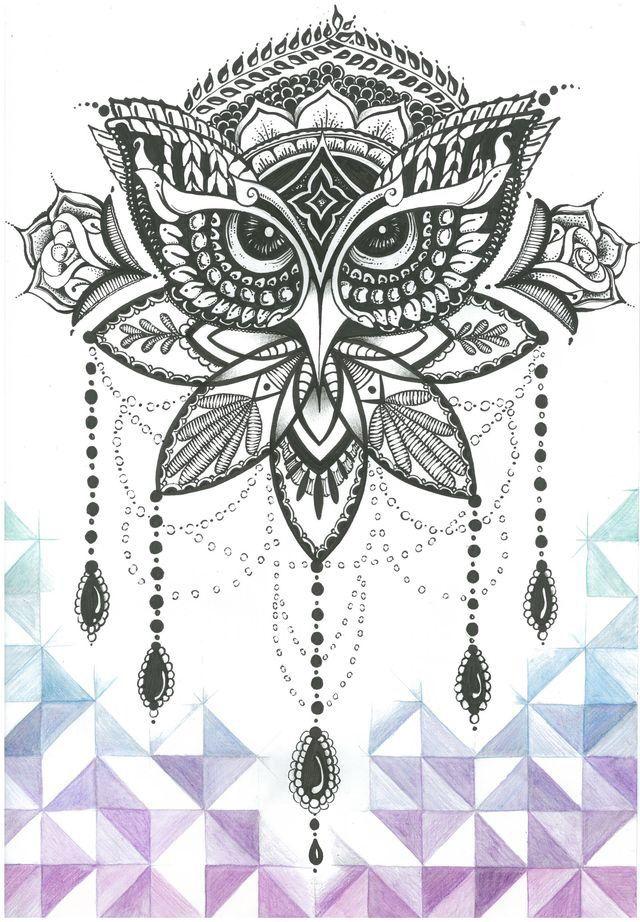 Mandala Owl Tattoo Mandalas Pinterest Tattoo Ideen Eulen