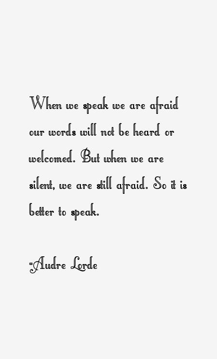 I Honestly Could Not Find Audre Lordes Poem Harriet So I