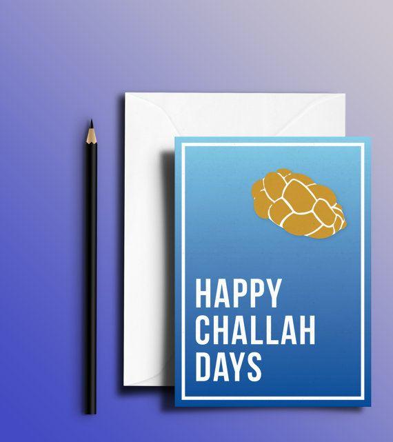 Happy Challah Days Funny Jewish Hanukkah Holiday Card