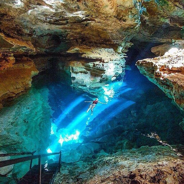 Poco Azul Chapada Diamantina National Park Brazil