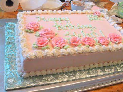 Rectangle Rose Garden Cake Google Search More