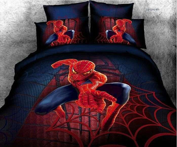 Spiderman Full Queen Size Bed Quilt Doona Duvet Cover Set 100
