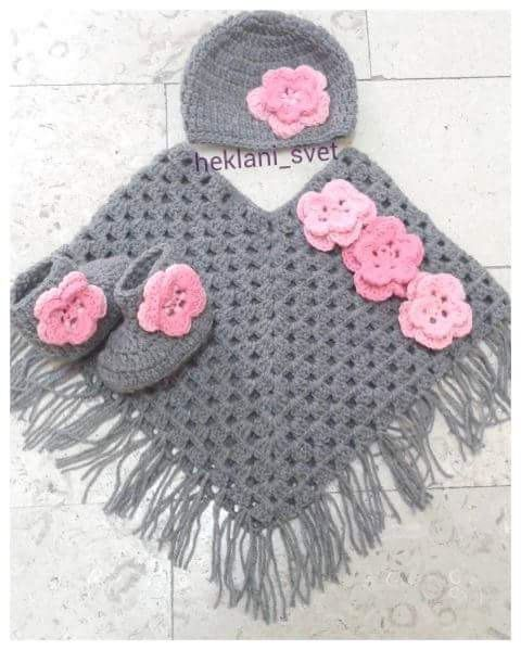 Handmade poncho, Girls poncho, Poncho cape, Girls crochet poncho ...