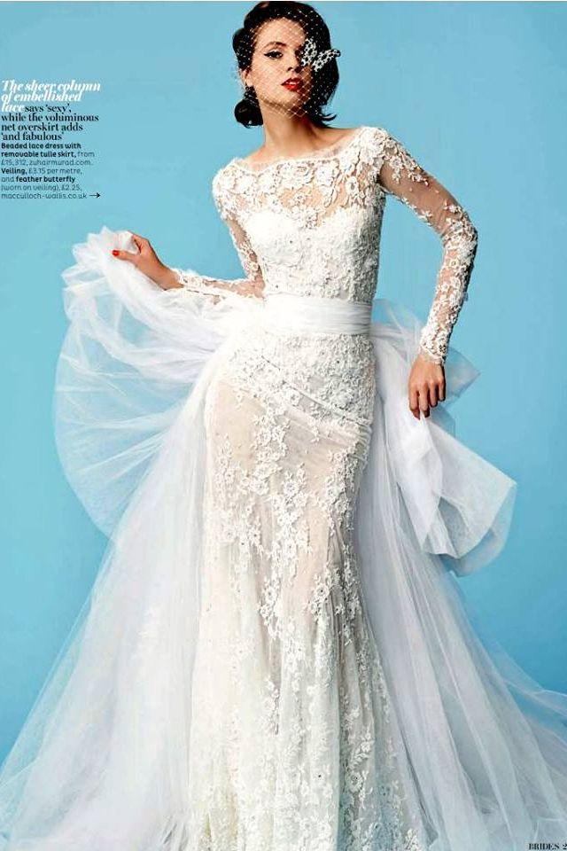 Zuhair Murad wedding dress long sleeve lace | wedding gowns ...