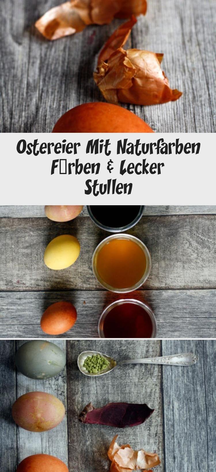 Ostereier Mit Naturfarben Färben & Lecker Stullen