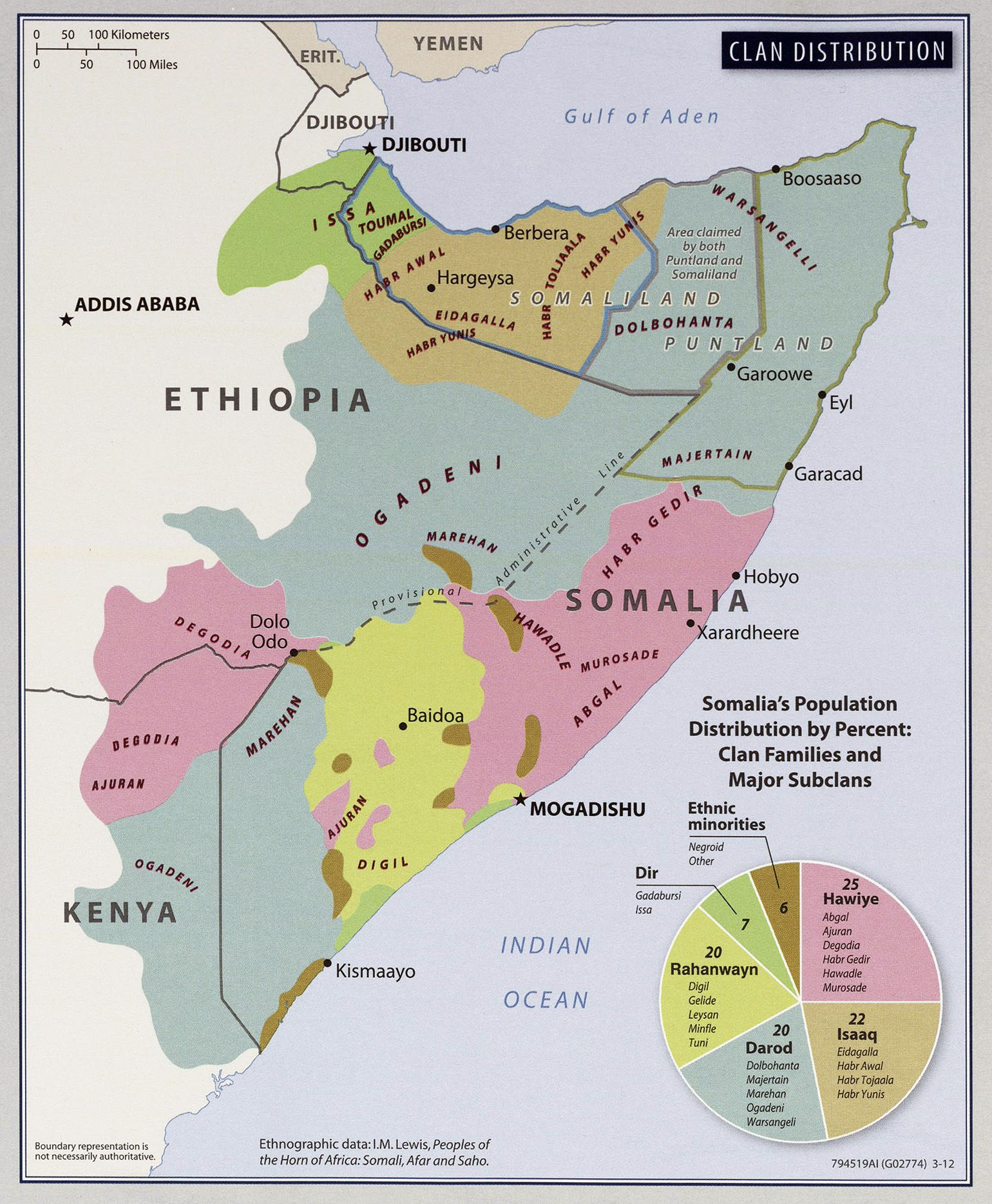 Somalia Location In Africa Map