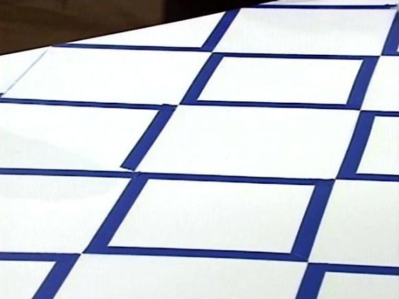 How To Paint A Diamond Pattern On A Wood Floor Diamond Pattern