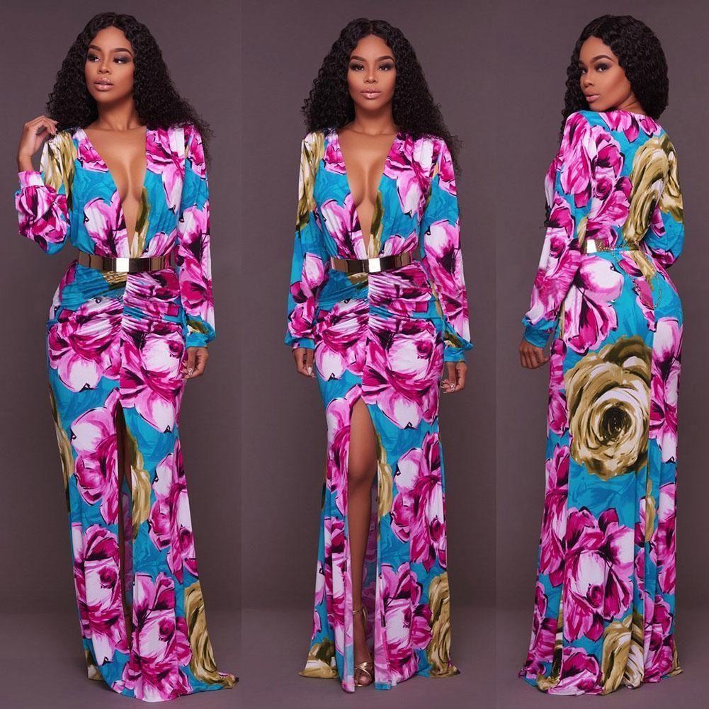 Hot fashion women dress boho maxi long party dress beach sundress