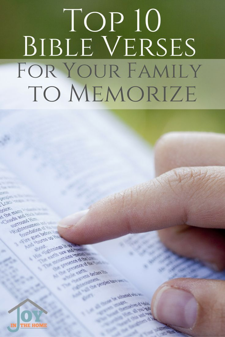 Perfect Bible verses for families to memorize for strong faith, and families.  via @Joy Aragones