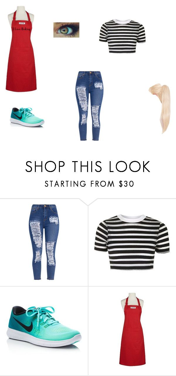 """Jenny"" by ehope608 ❤ liked on Polyvore featuring Topshop, NIKE and Design Imports"