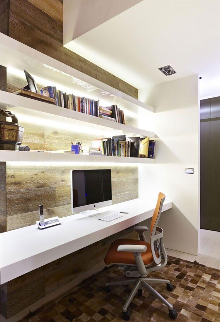 Importante, quindi, scegliere i mobili, gli elementi d'arredo e decorativi che creino uno spazio confortevole. 47 Idee Di Design Per Arredare Uno Studio In Casa Mondodesign It Modern Home Offices Home Office Design Small Home Office