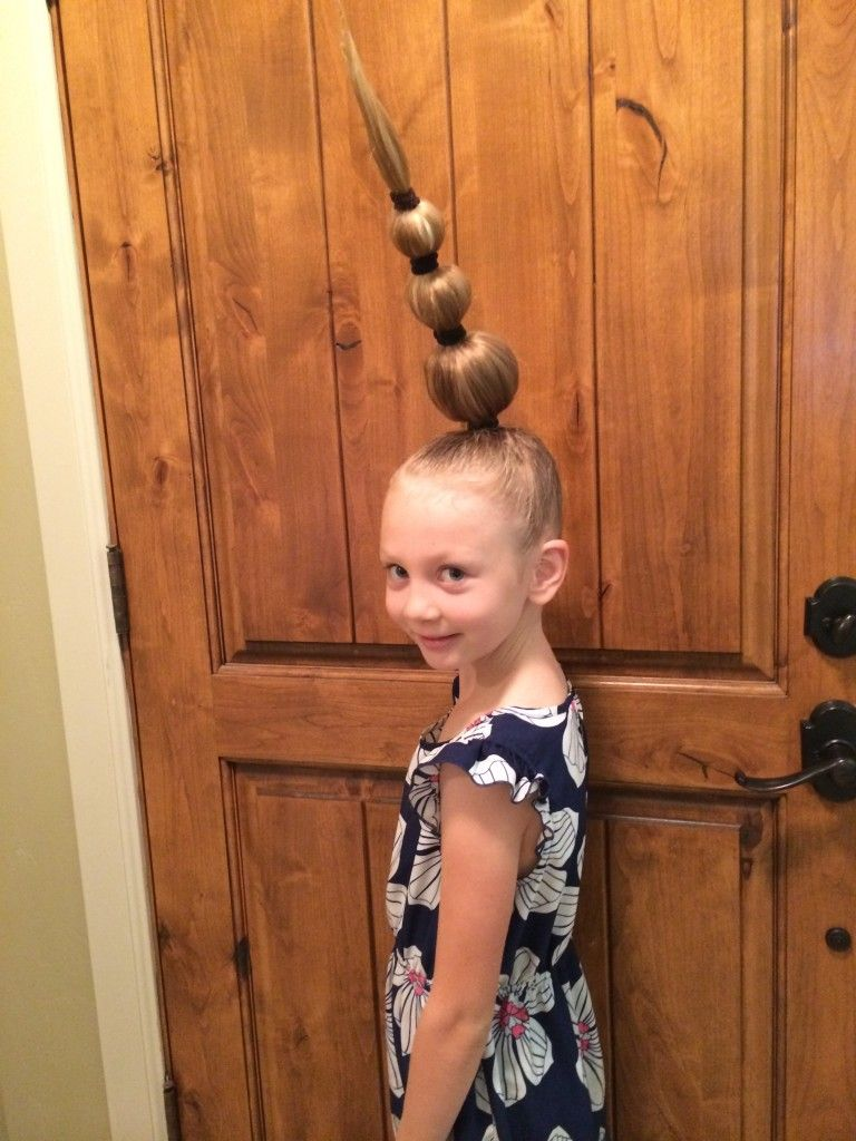 crazy hair day idea for girls | it's a princess thing | loretta