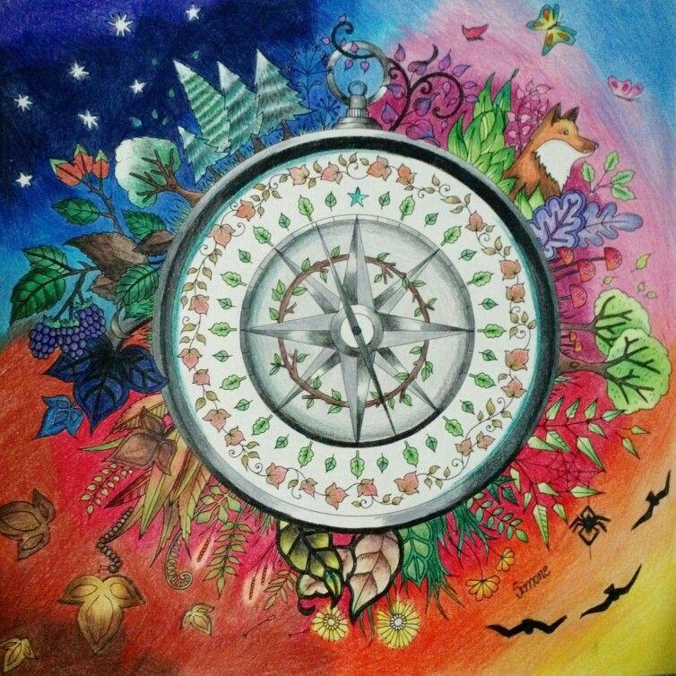 Rosa Dos Ventos Livro De Colorir Johanna Basford Jardim Secreto