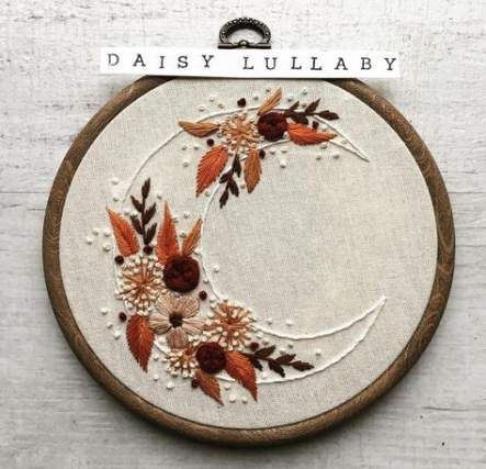 Embroidery Hoop Crafts Moon 43 Ideas embroidery is part of Embroidery hoop crafts -