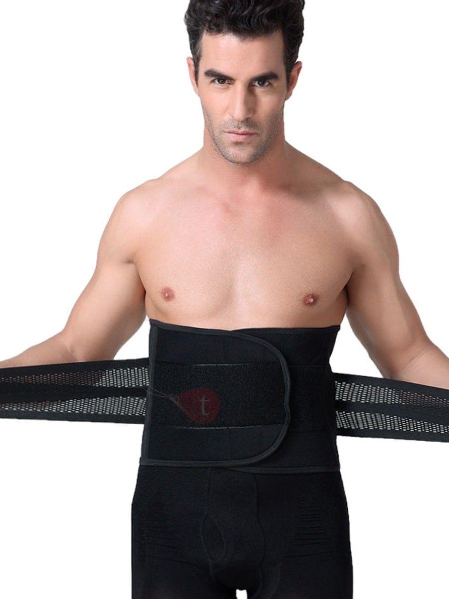 Men Sport Corset Body Shapewear Trainer Male Gym Workout Girdle Brace Waist Belt