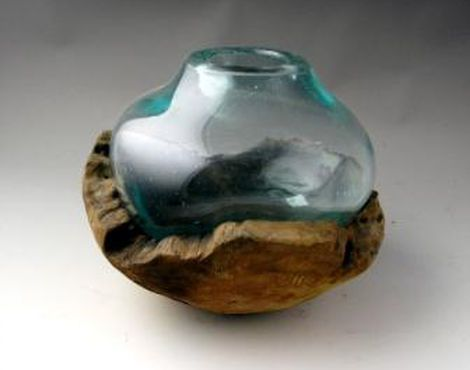 Bx Glass Wood Bowl With Glass Bulb Decor Furniture Pinterest