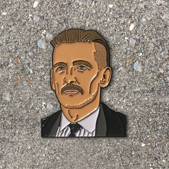 Arthur Shelby Enamel Pin SECONDS, Peaky Blinders gifts, soft