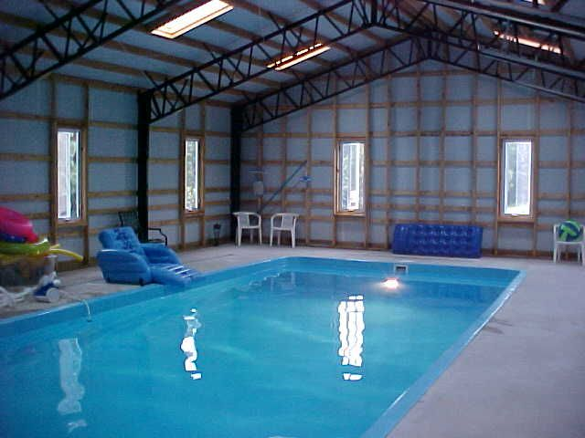 Metal building homes interior google search metal for Indoor swimming pool construction