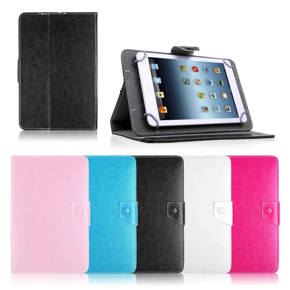 Pu Leather Cover Case For Huawei Mediapad 7 Vogue For Samsung Galaxy Tab3 Lite T110 7 Inch Universal Android Bags Tablet Accessories Tablet Case Leather Stand