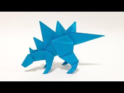 Photo of Dinosaurier Origami Stegosaurus Origami Dinosaurier Stegosaurus