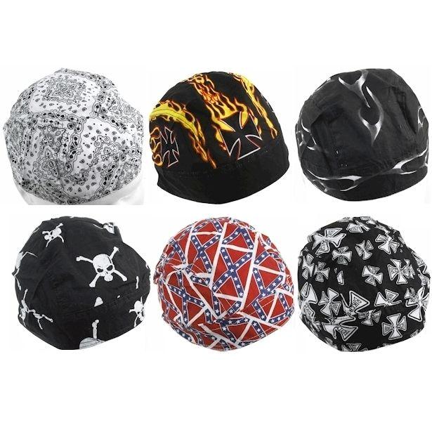 Cotton Skull Hot Sale Head Popular Cap Motorcycle Biker Hat Stylish Print