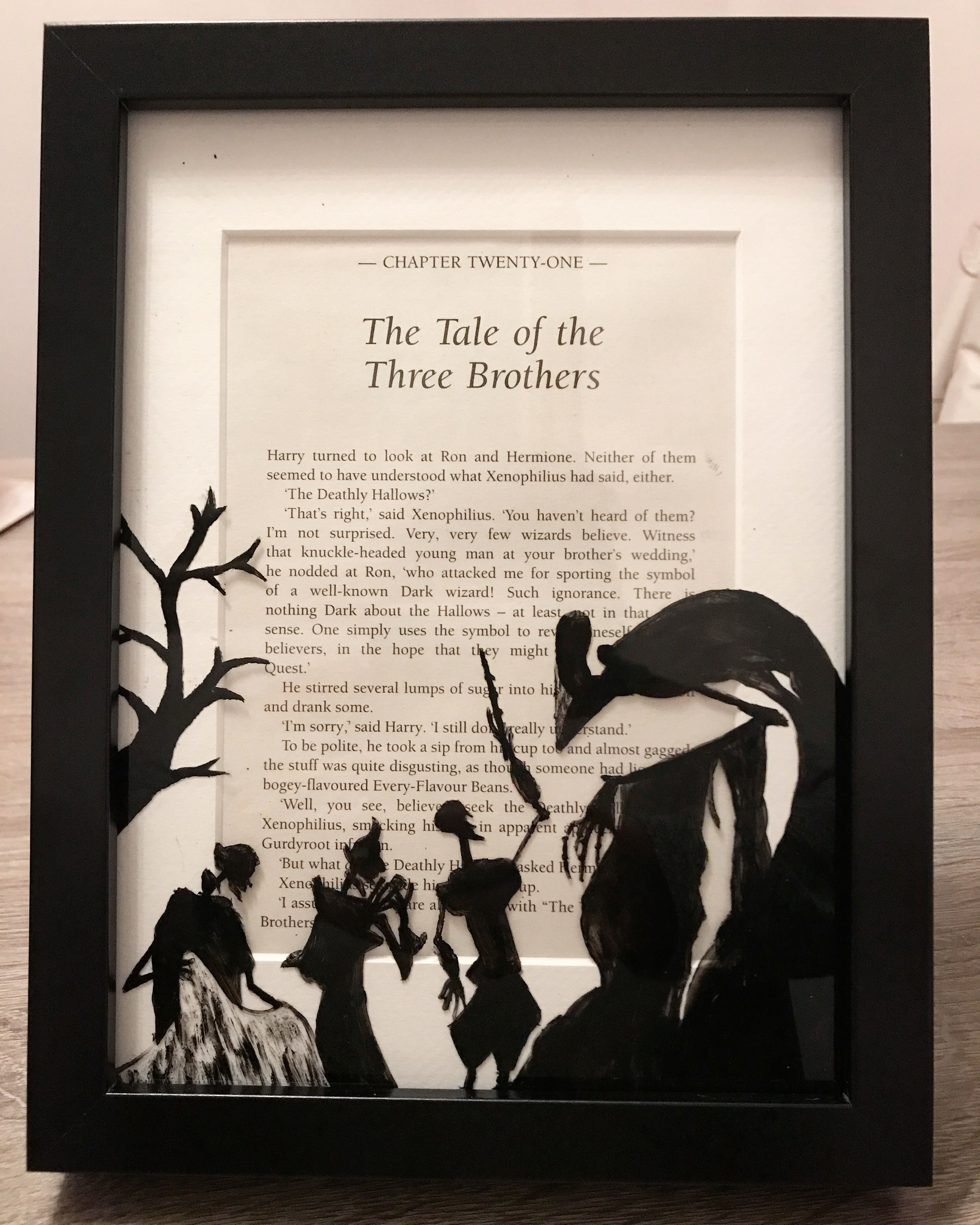 Hand painted Harry Potter frame - the tale of the three brothers ...