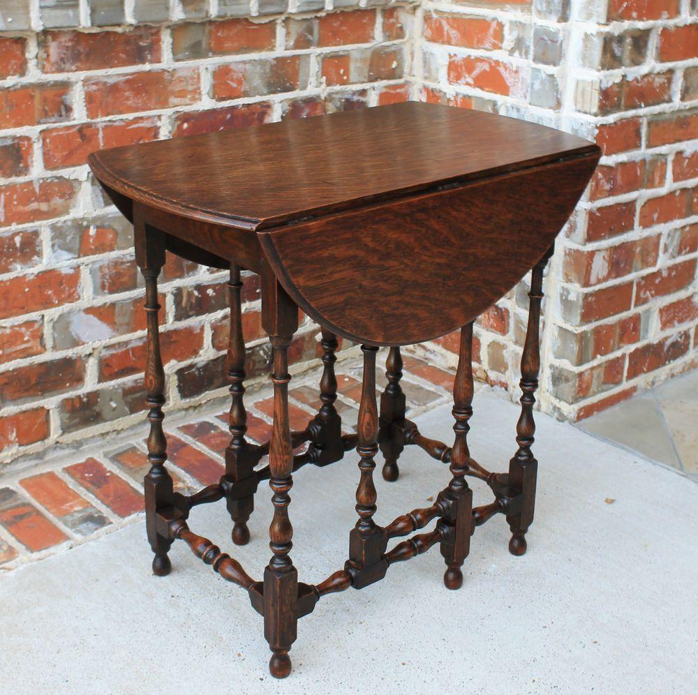 Antique english petite oak drop leaf gate leg oval sofa table lamp antique english petite oak drop leaf gate leg oval sofa table lamp or end table geotapseo Image collections