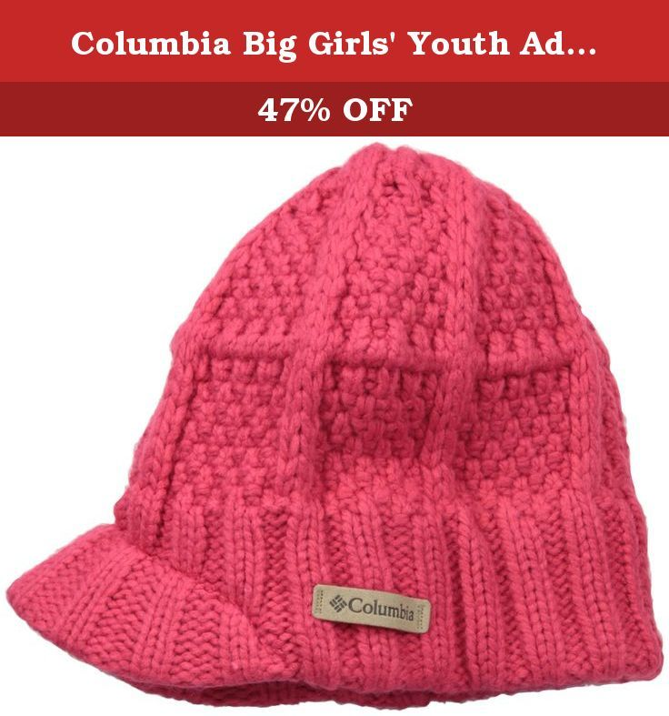 Columbia Big Girls' Youth Adventure Ride Visor Beanie, Punch Pink, O/S. The quintessential skate-and-snowboarder look is captured perfectly in this modern take on the visor beanie. The adventure ride is available in 4 bold color options, each featuring a stylishly modern print design.