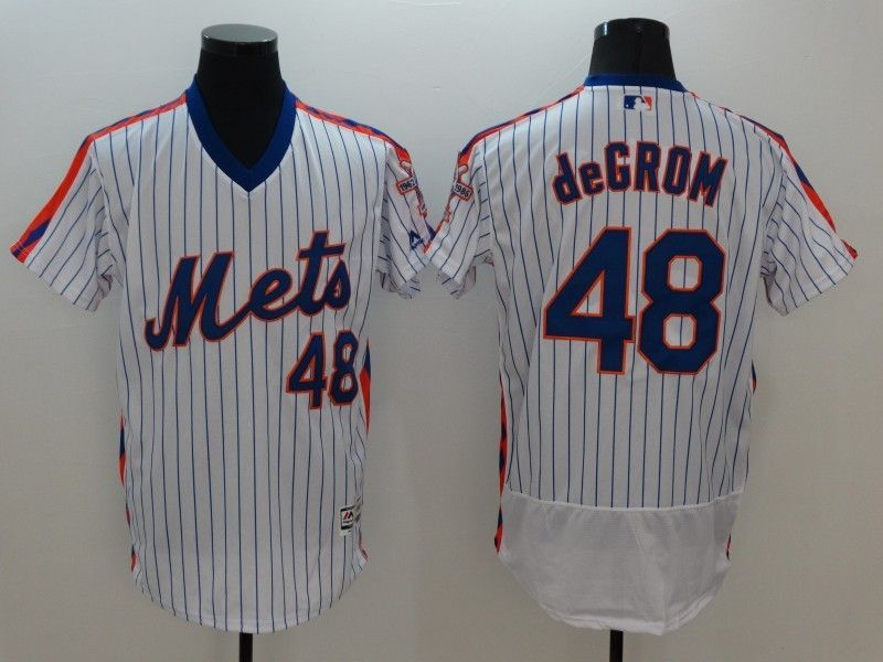 2016 MLB FLEXBASE New York Mets 48 Degrom Blue Jersey